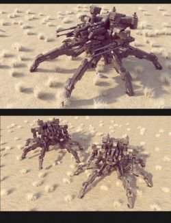 Sci-Fi MS Spider Mecha