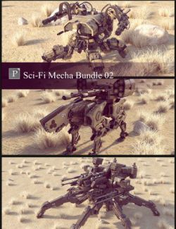 Sci-Fi Mecha Bundle 02