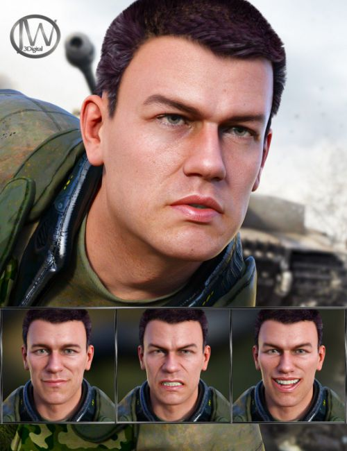 Brave Life - Expressions for Genesis 8 Male and Dain 8