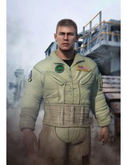 Flight Suit Outfit for Dain 8 and Genesis 8 Male(s)