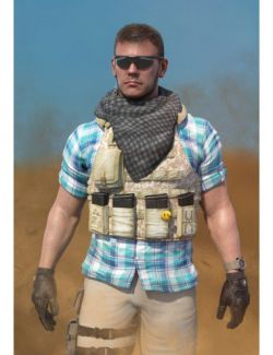 Mercenary Outfit for Dain 8 and Genesis 8 Male(s)
