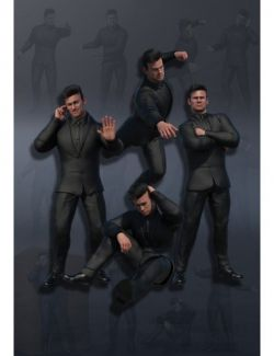 Bouncer Poses for Dain 8 and Genesis 8 Male(s)