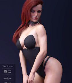 X-Fashion PrettyLittle Bodysuit for Genesis 8 Female(s)