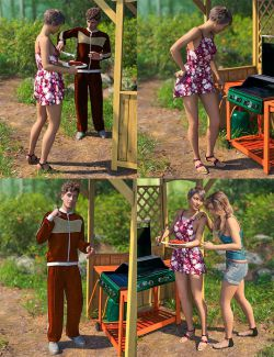Grillin' Poses for Genesis 8