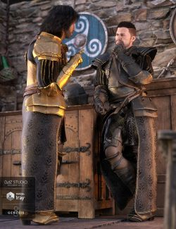 dForce Bellowtalons Knight Outfit Textures