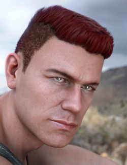 Derek Hair for Genesis 8 and Genesis 3 Male(s)