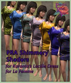 PRA Shimmery Shaders for Lucille Dress
