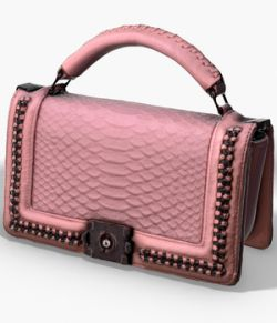 Pink Pochette- 3D Photoscanned PBR- Extended License