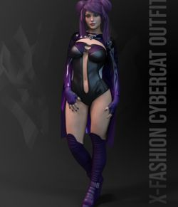dForce X-Fashion Cybercat Outfit for Genesis 8 Female(s)