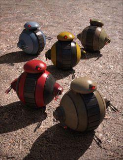 Sci-Fi Mini-Tank Bot