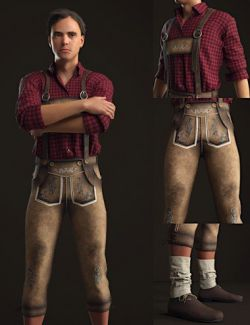 Bundhosen Outfit for Genesis 8 Male(s)