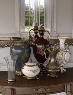 Rococo Vases Iray