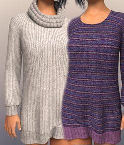 dForce LongSweater for Genesis 8 Female