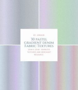 30 Pastel Gradient Denim Fabric