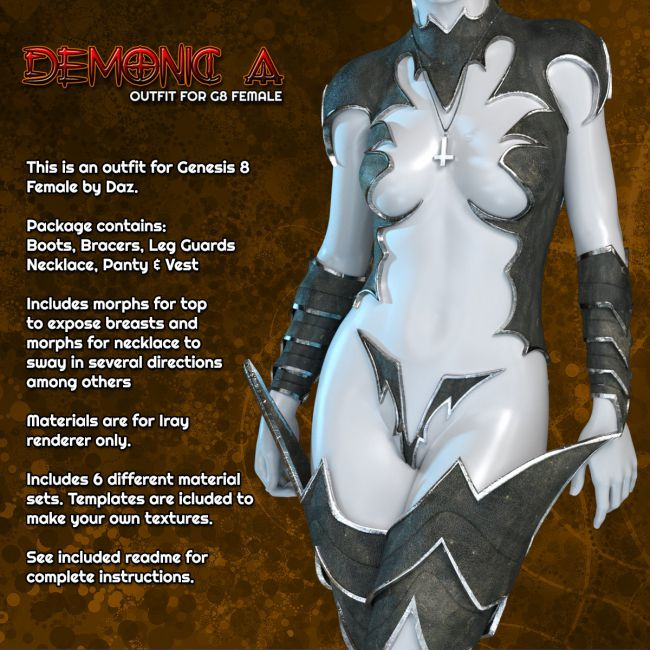 Exnem Demonic A Outfit for G8 Female