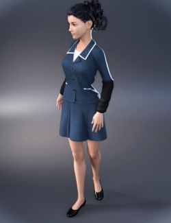 dForce Retro Office Outfit for Genesis 8 Female(s)