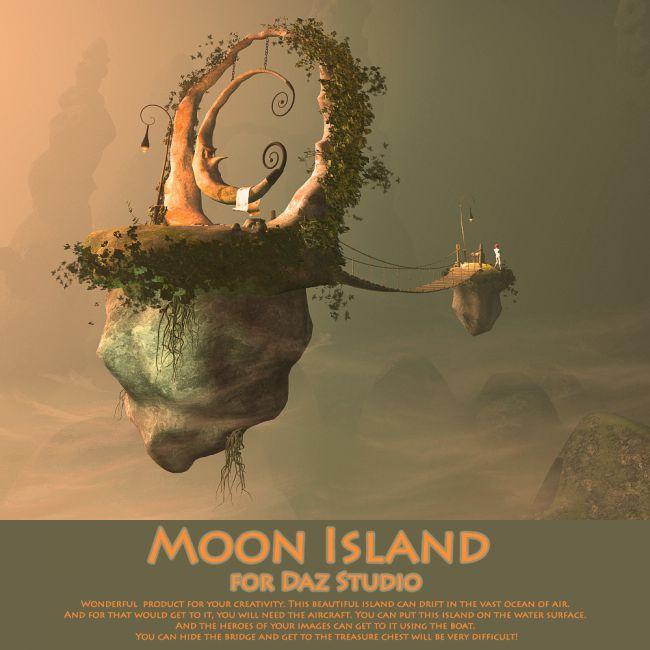 Moon Island for Daz Studio