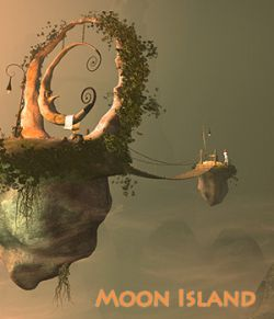 Moon Island for Daz Studio