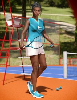 dForce Tennis Outfit for Genesis 8 Female(s)