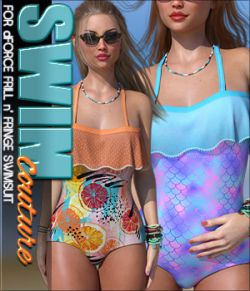 SWIM Couture for dForce Frill n' Fringe Swimsuit