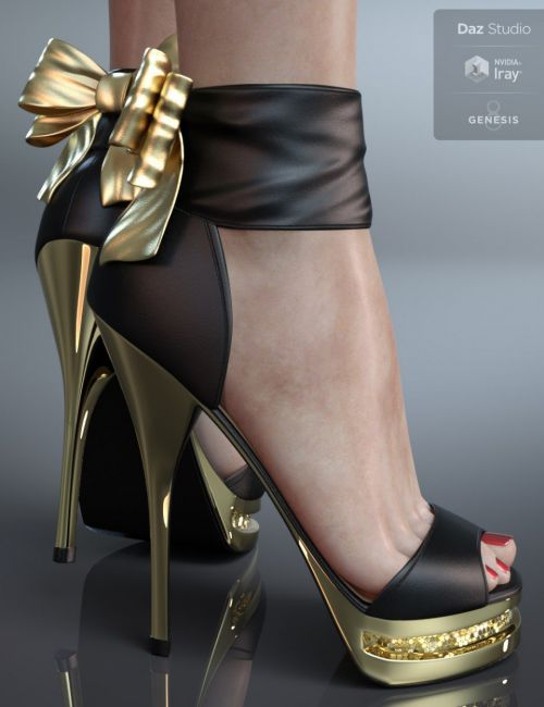 Party Shoes for Genesis 8 Female(s)