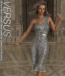VERSUS- dForce Nola Cocktail Dress outfit for Genesis 8 Female(s)