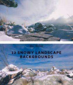 12 Snowy Landscape Backgrounds