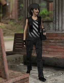 dforce Scene Kid Outfit for Genesis 8 Female