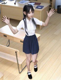 dForce Suspender School Uniform for Genesis 8 Female(s)