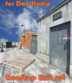 Rooftop Exit set for Daz Studio