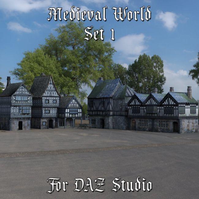 Medieval World Set 1 for DAZ Studio