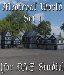 Medieval World Set 1 for DAZ Studio
