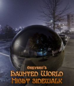 Greybro's Haunted World- Night Sidewalk HDRI