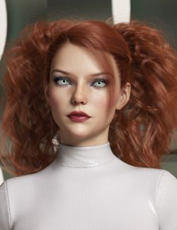Surrounding Curls Hair for Genesis 3 and 8 Female(s)