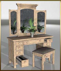 Vintage Furniture : Dressing Table for Poser