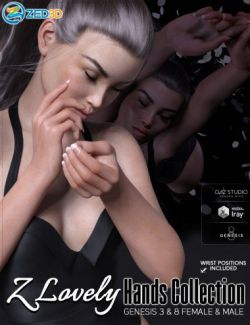 Z Lovely Hands Collection for Genesis 3 and 8