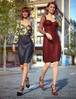 dForce New York Style Dress Outfit Textures