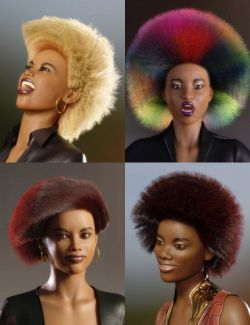 dForce African Hair for Genesis 8 Female