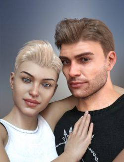 dForce Corporate Hair for Genesis 8 Male and Female(s)