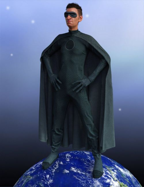 dForce Supervillain Costume for Genesis 8 Male(s)