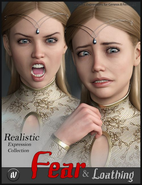 iV Fear and Loathing Expressions for Genesis 8 Female(s)