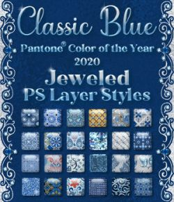 Classic Blue Jeweled PS Layer Styles