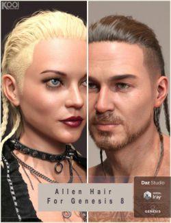 Allen Hair For Genesis 8