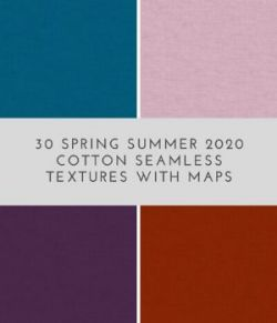 30 Spring Summer 2020 Cotton Seamless Textures with maps