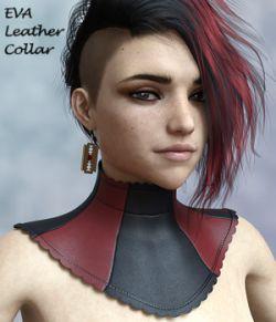 Eva Leather Collar for Genesis 8 Female