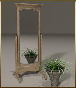 Vintage Furniture : Swivel Mirror for Poser