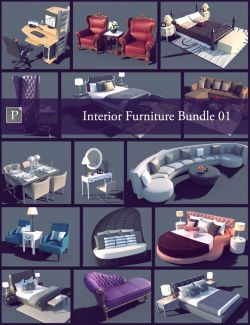 Interior Furniture Bundle 01