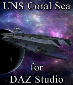 UNS Coral Sea Space Carrier for DAZ Studio