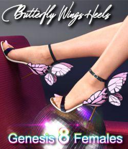 Butterfly Wings Heels for Genesis 8 Females