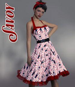 Savoy dforce dress for Genesis 8 Females